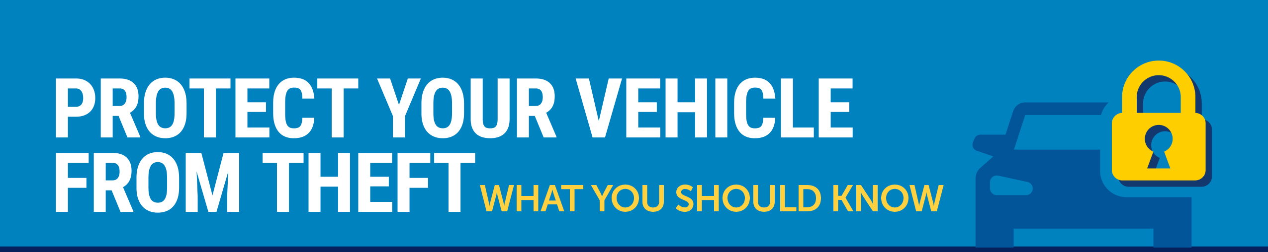 Vehicle Theft Prevention Month logo