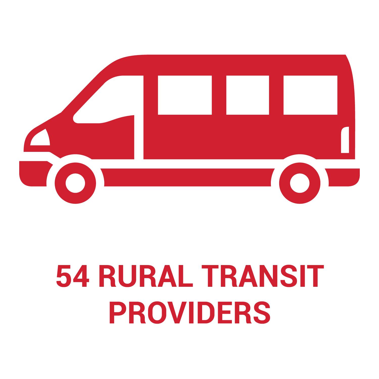 Nebraska has 54 rural transit providers across the state.