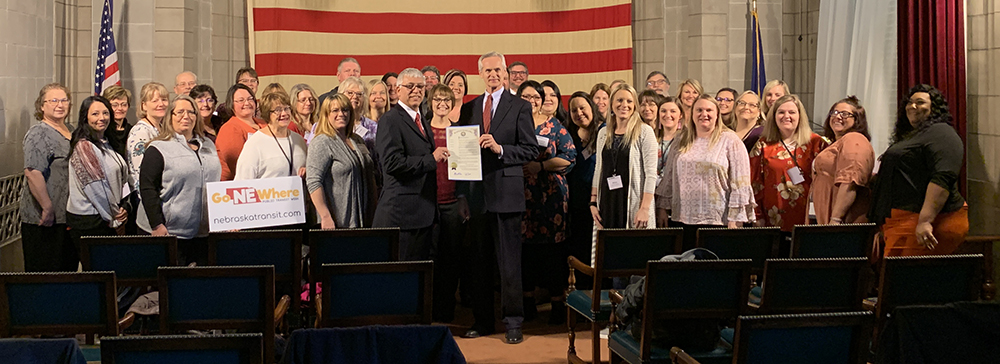 2020 Nebraska Public Transit Week Proclamation Signing photo